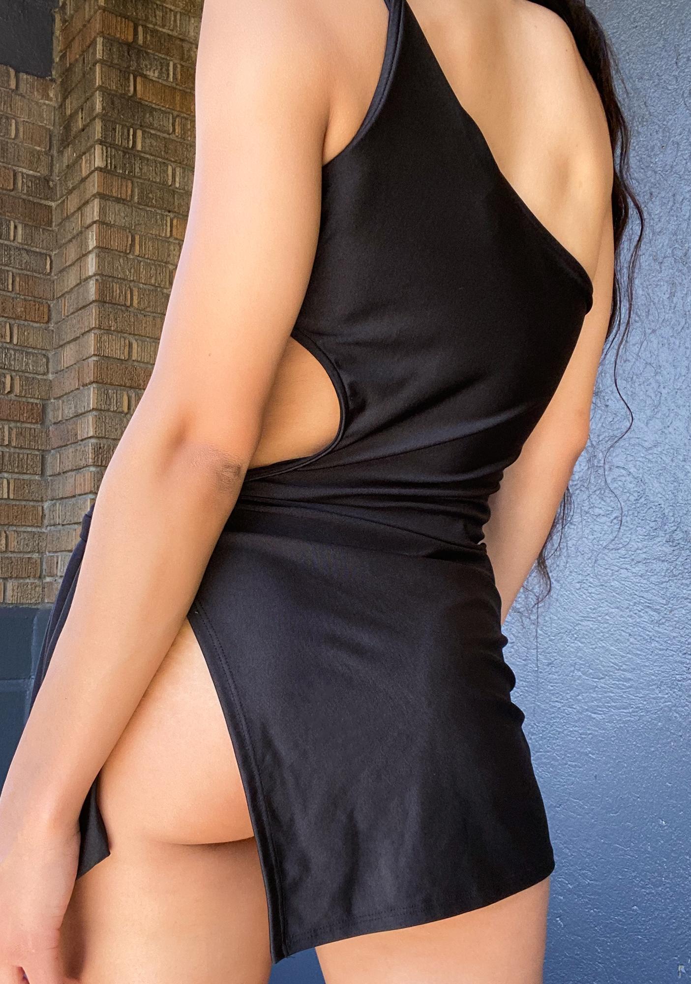 Breaking It Down One Shoulder Dress