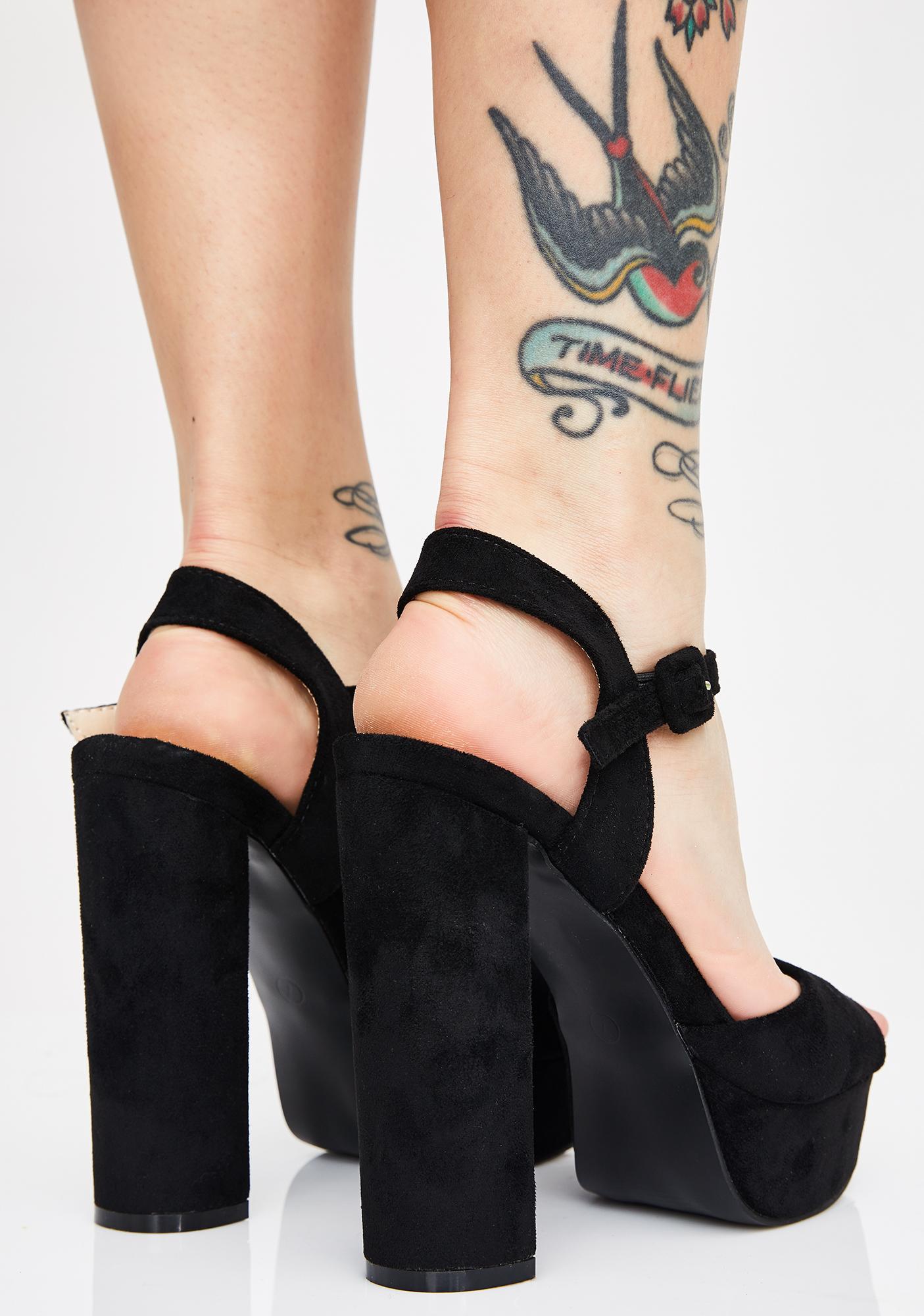 AZALEA WANG La La La Fleur Platform Heels