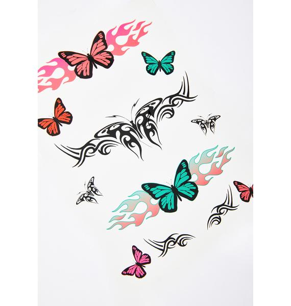 Constant Change Butterfly Tattoo Set