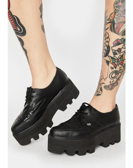 Lace Up Pointed Platform Creepers