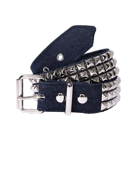 Walk Away Studded Denim Belt