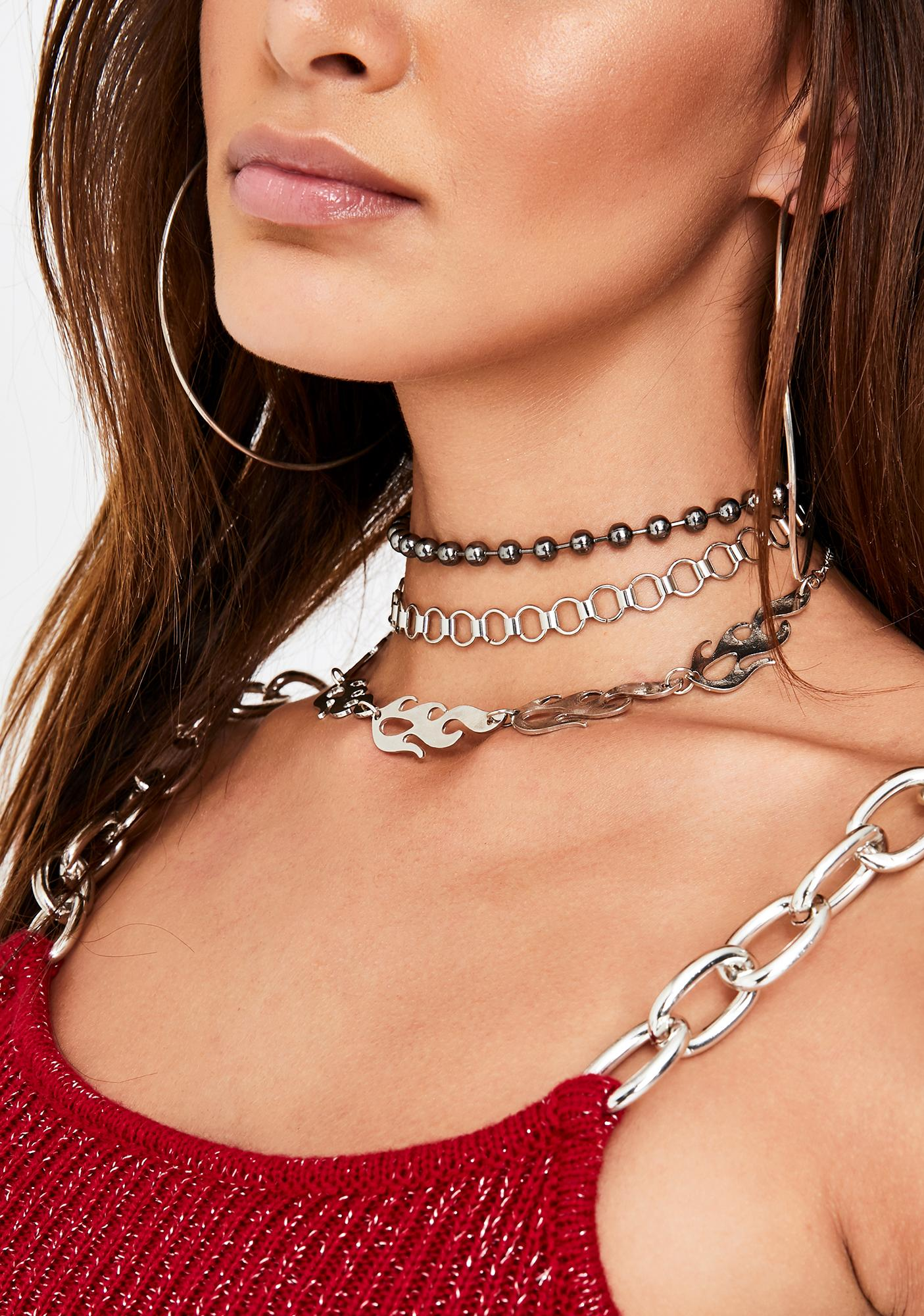 Flame Bae Choker Set