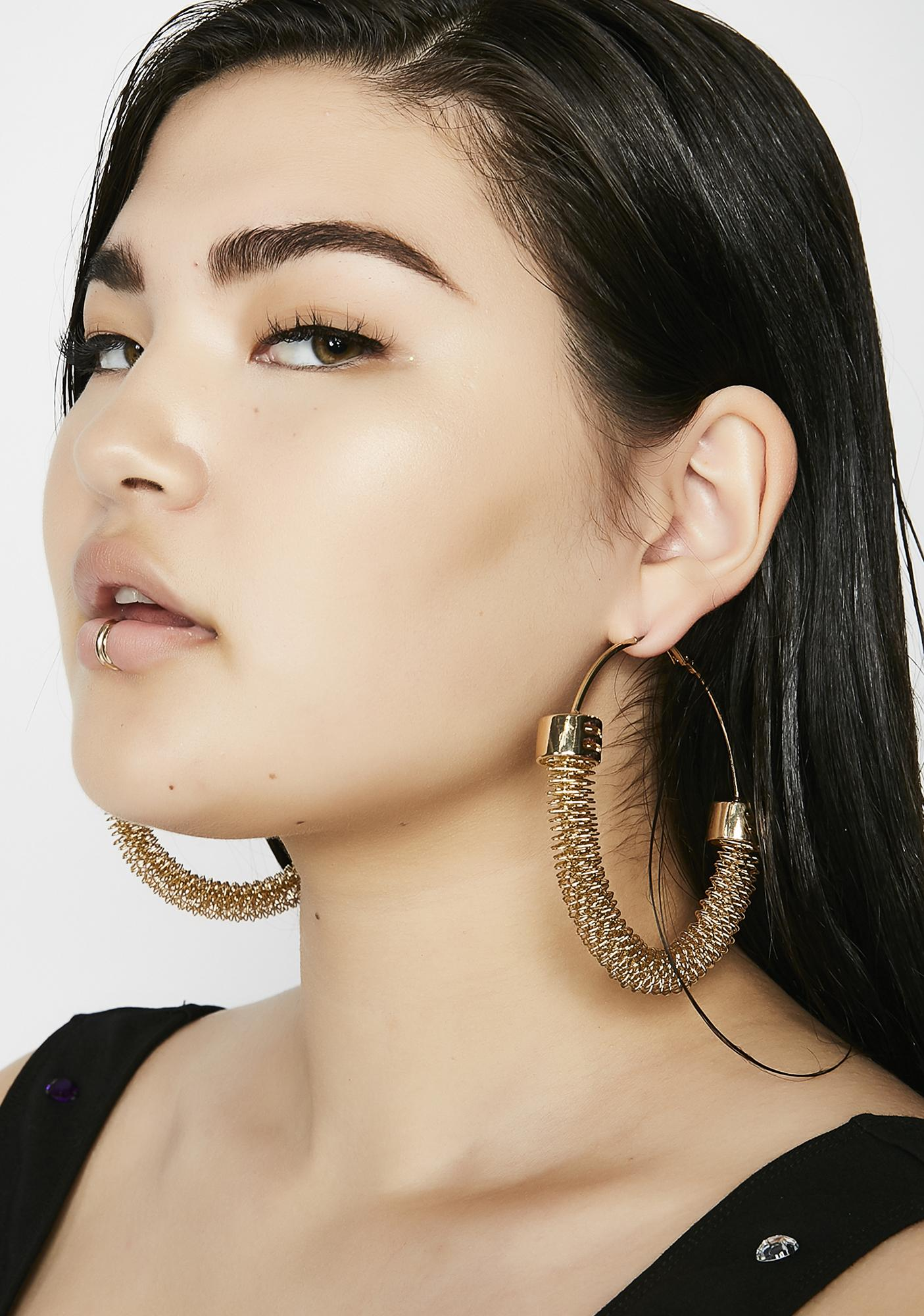Catch Me Blingin' Hoop Earrings