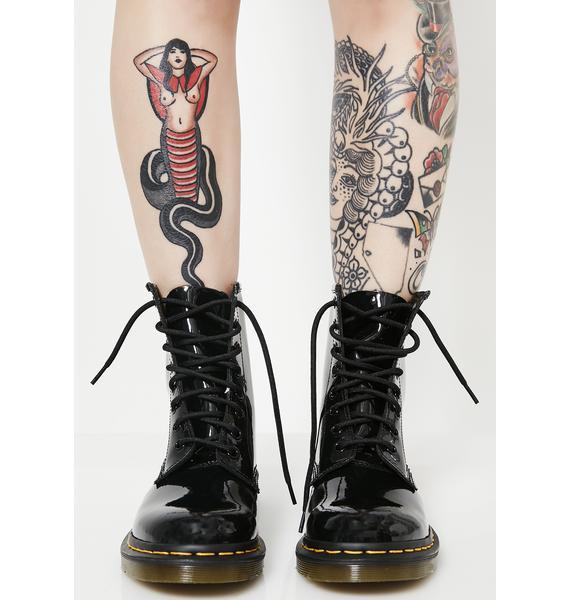 Dr. Martens Black Patent 1460 8 Eye Boots