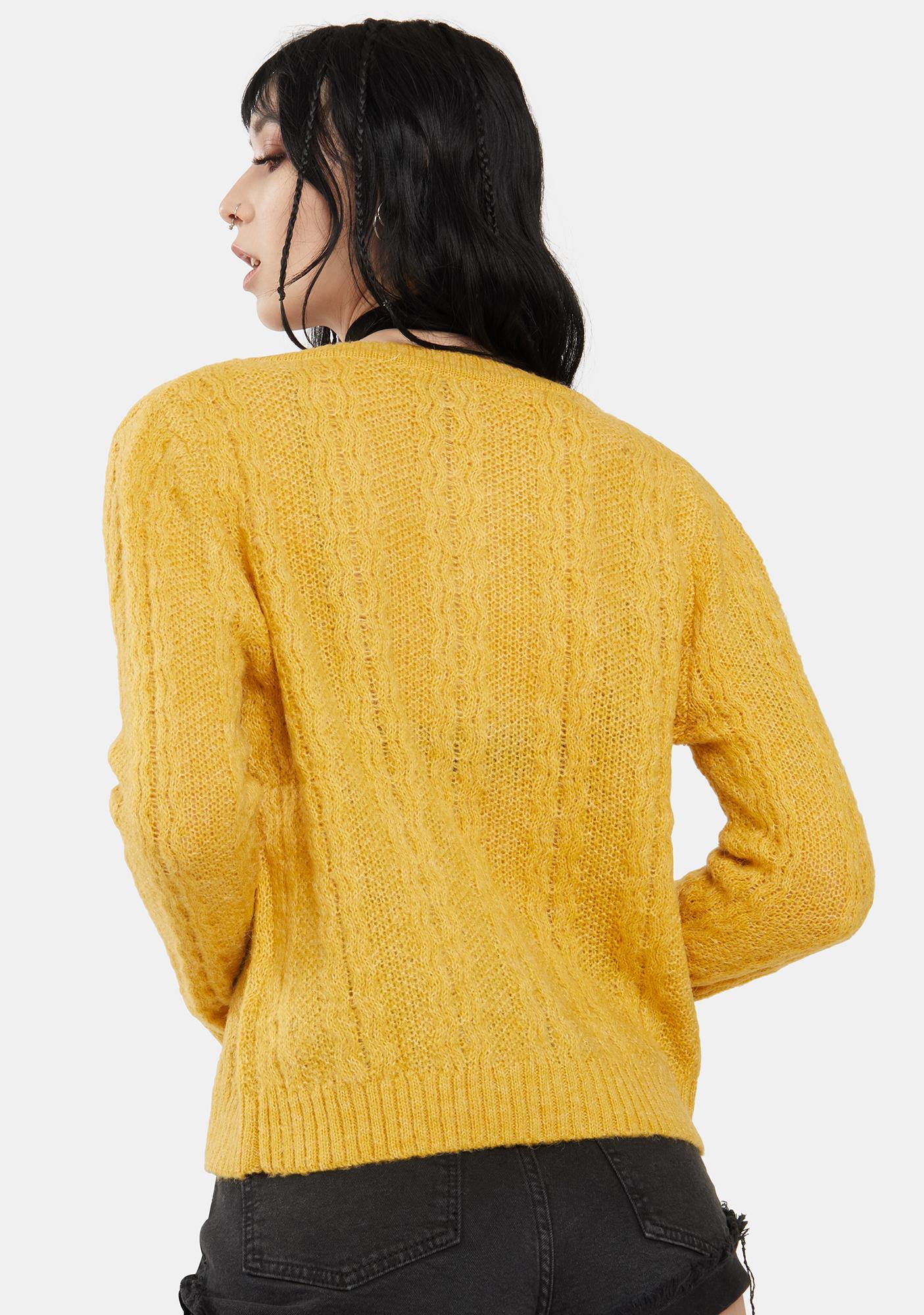 Dress Forum  Honey Yellow Knit Cardigan