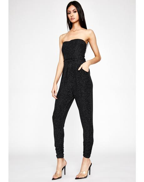 Cosmic Blackout Metallic Jumpsuit