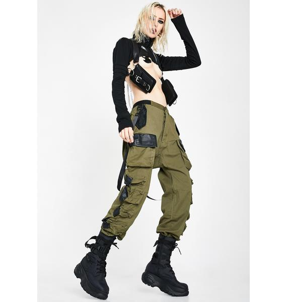Club Exx Kush Commander Smoke Unisexx Cargo Pants