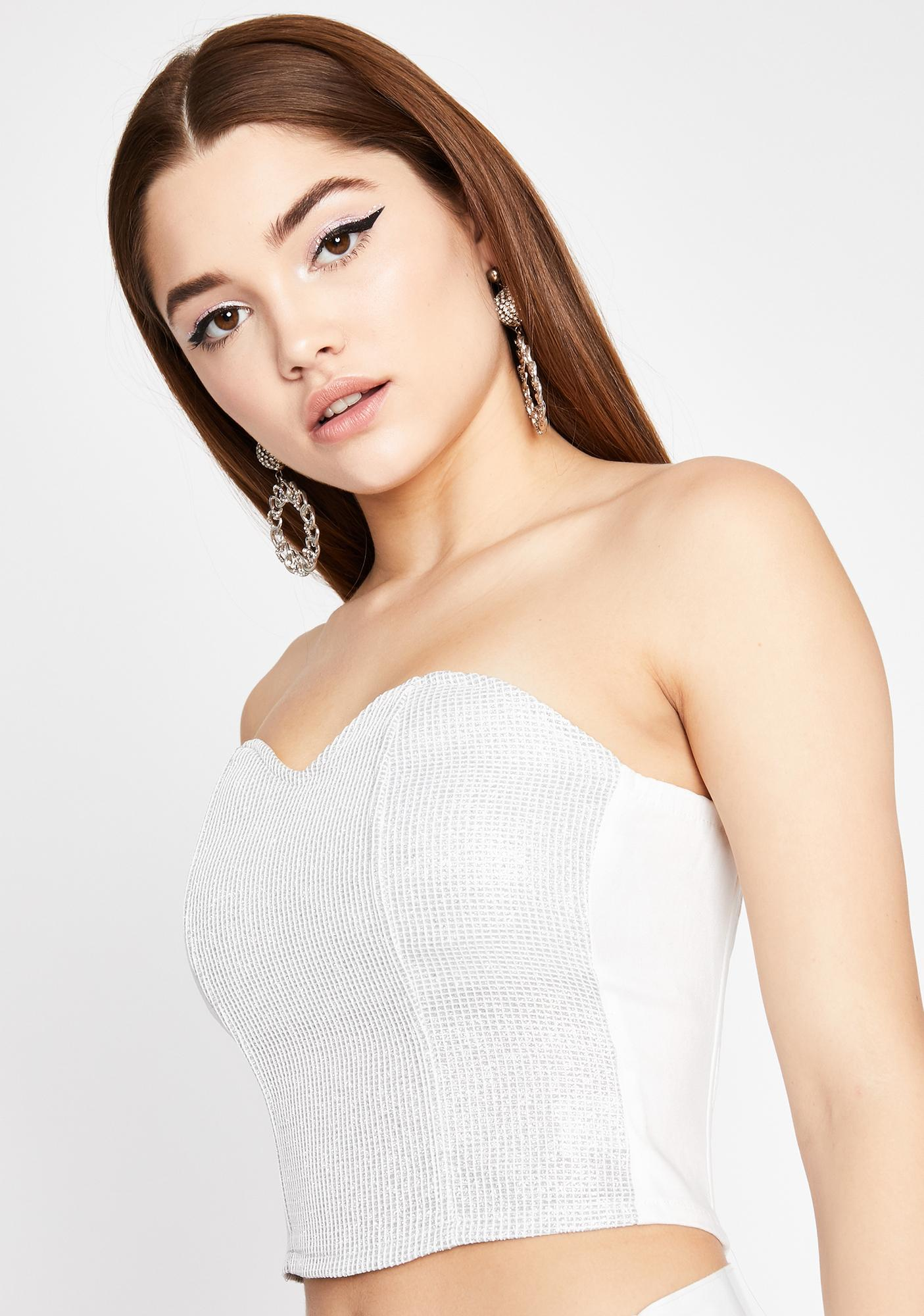 Diamonds Up To Here Bustier Top