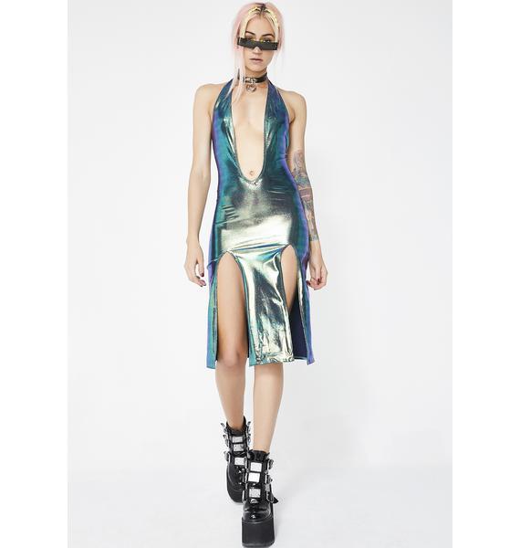 Sleek Freak Slit Dress