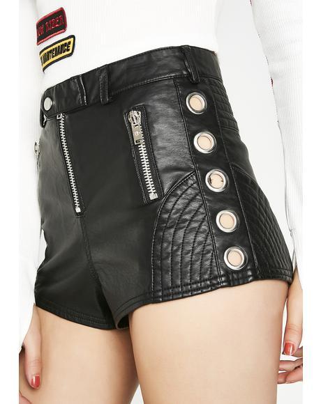 Biker Babe Moto Shorts