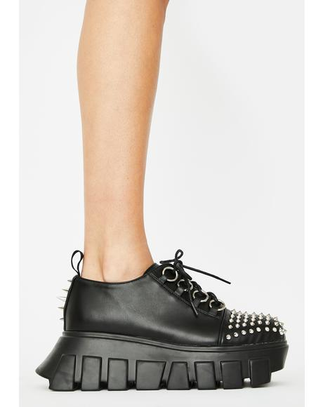 Spikey Holdin' Back Platform Creepers