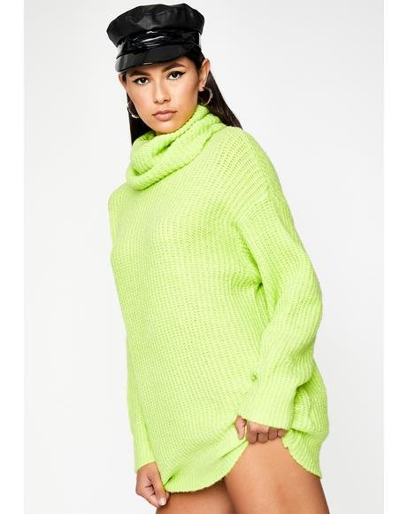 Glowin' Shy Beginning Sweater Dress