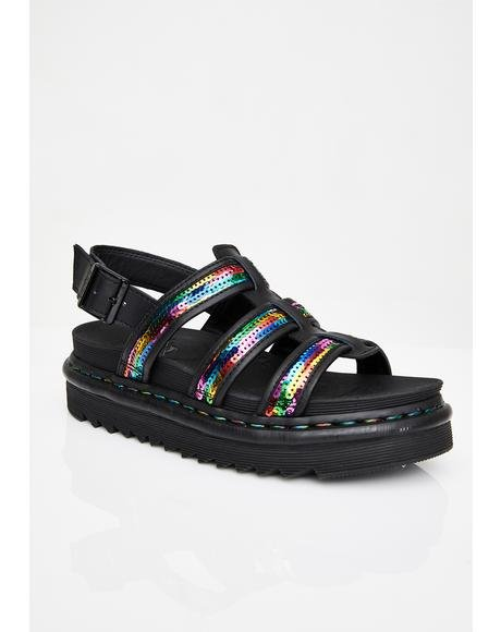 Yelena Rainbow Sequin Sandals