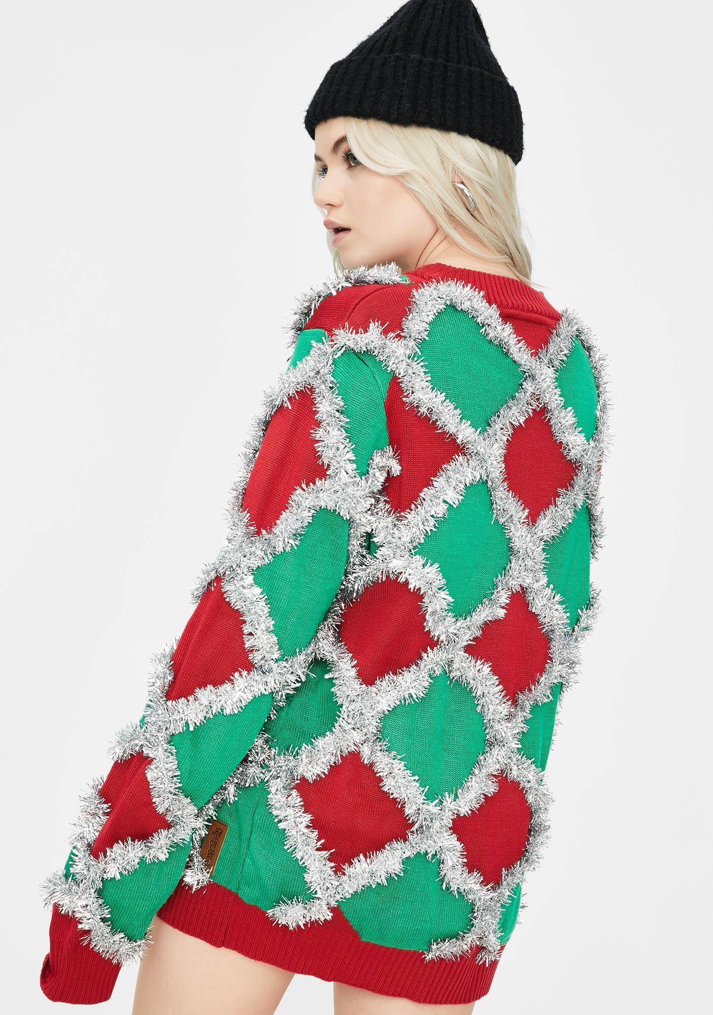 Tipsy Elves Caribrew Tinsel Sweater