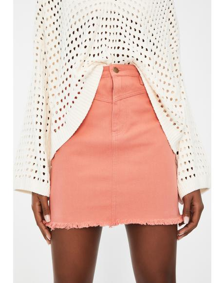 Tia Diamond Yoke Mini Skirt