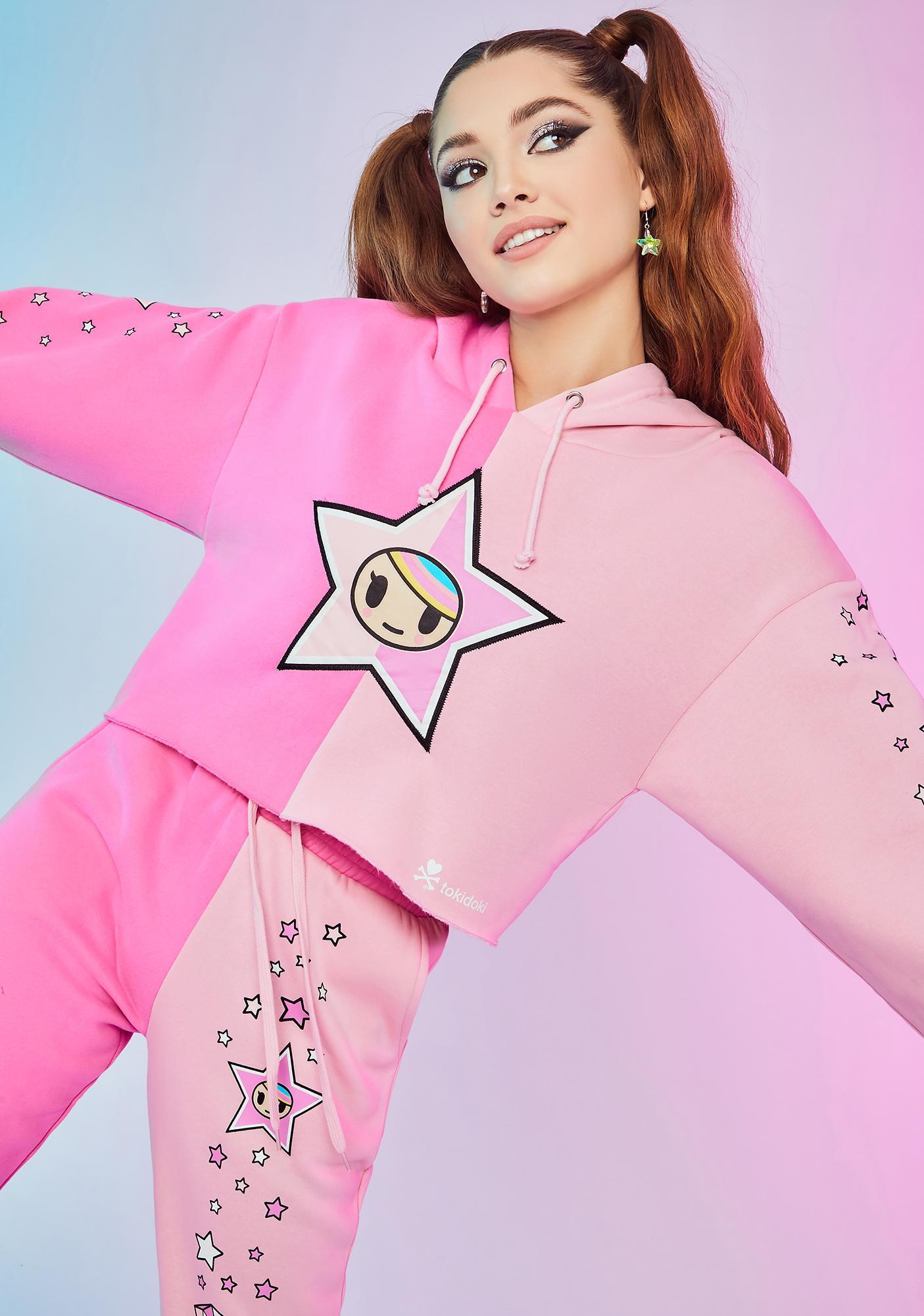 Dolls Kill x tokidoki Aim For The Stars Crop Hoodie