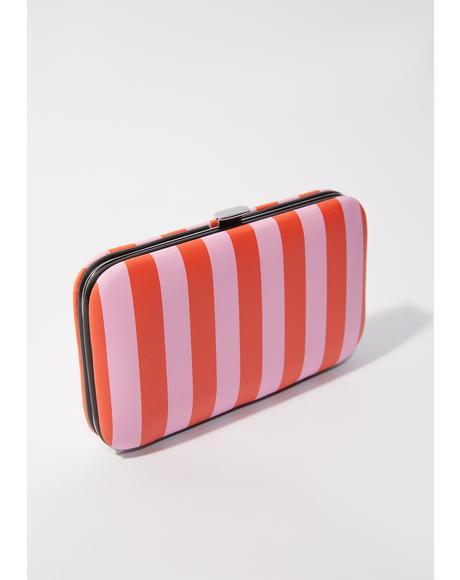 Striped Manicure Purse Set