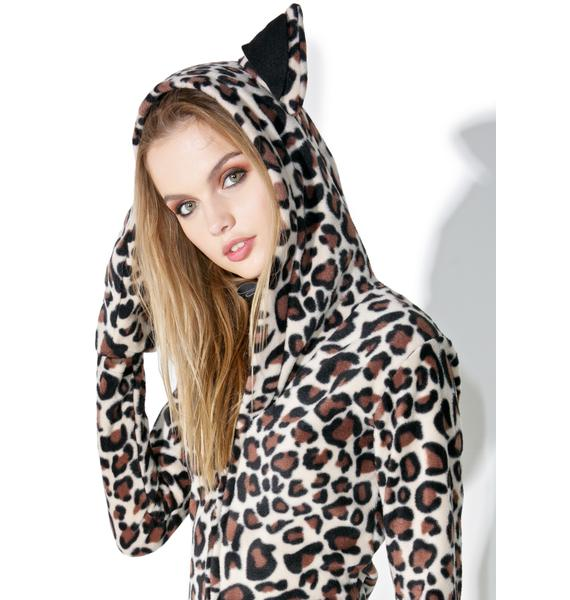 Yer A Pawful Leopard Hoodie Costume