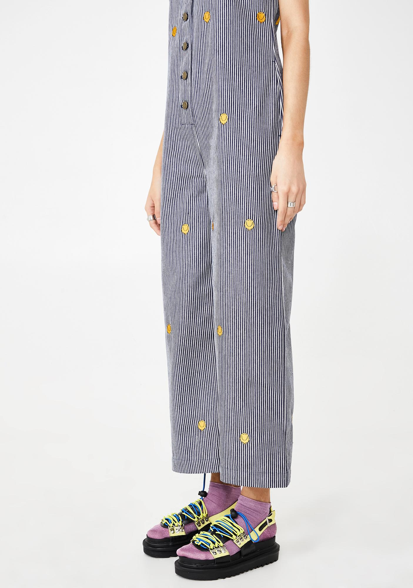 Lazy Oaf Mr Happy Stripe Jumpsuit
