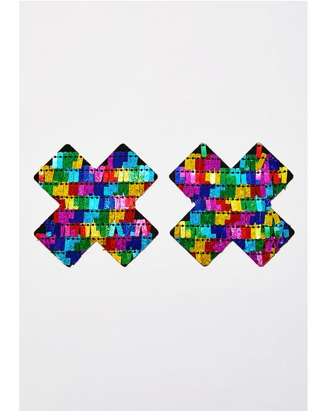 Sexy Pinata Multicolor Sequin X Pasties