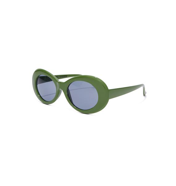 Petals and Peacocks Olive Nevermind Sunglasses