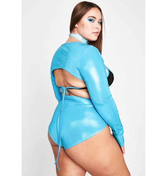 Turquoise Miss Party Crasher Short Set