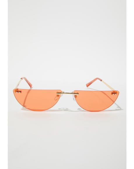 Crush Chic Thrills Half Oval Frameless Sunglasses