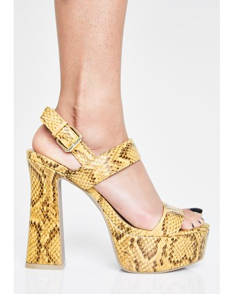 Caution Slither Sis Platform Heels