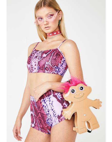 Rodeo Pink Snakeskin Hot Shorts