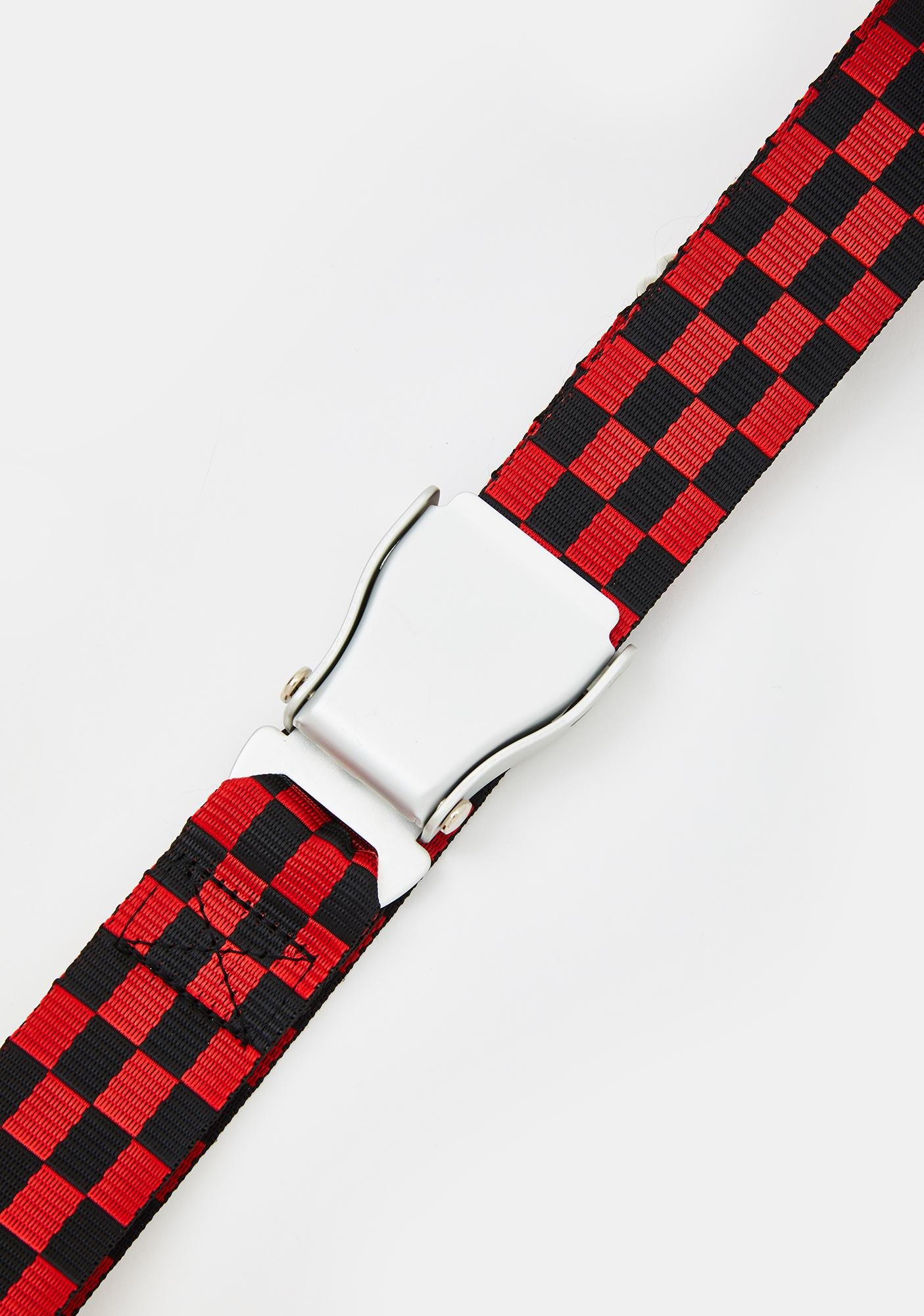 So Typical Checkered Seat Belt Buckle Belt