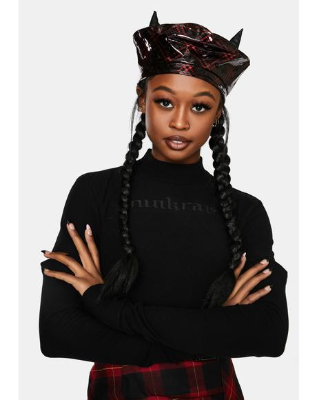 Vodevil Basque Patent Plaid Beret