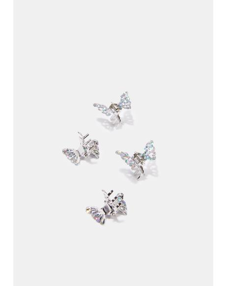 Butterfly Sparklin' Hair Clips