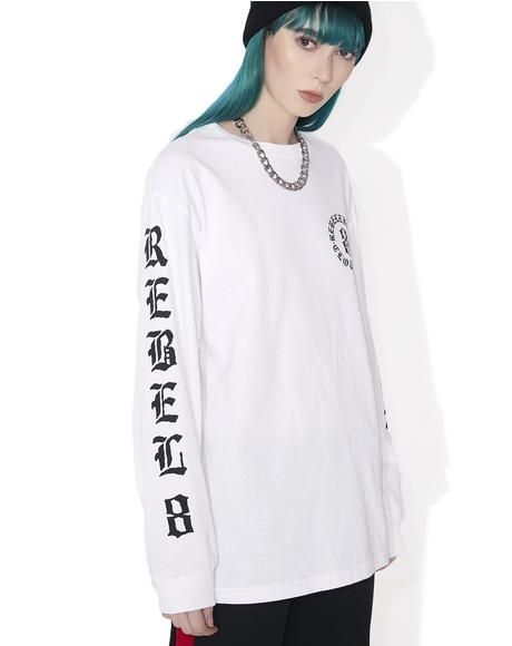 Immortals White Long Sleeve Tee