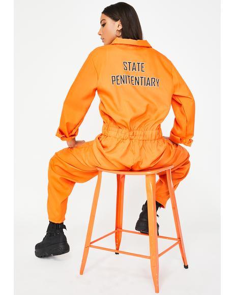 Illicit Inmate Jumpsuit Costume