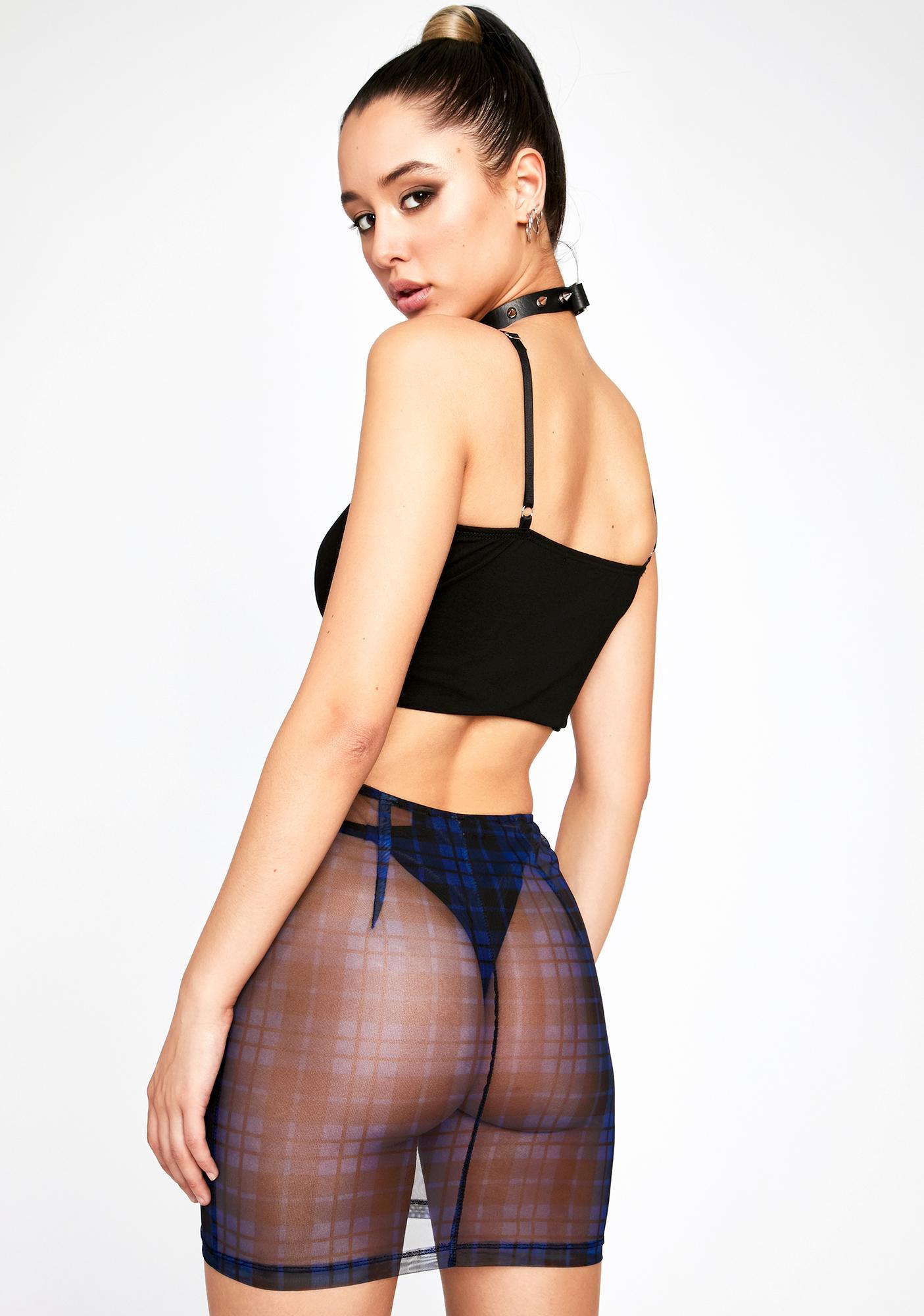 Tunnel Vision Mini Skirt