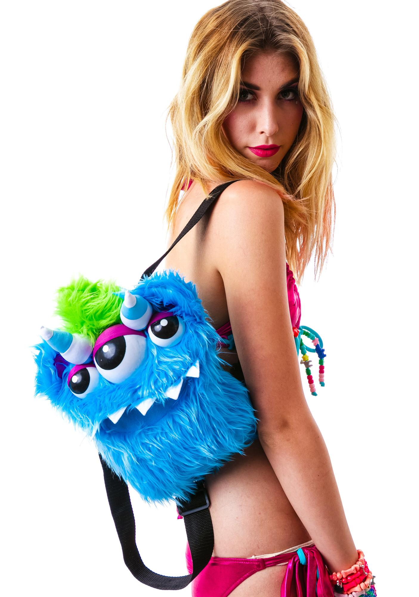 Monster Behind You Furry Backpack