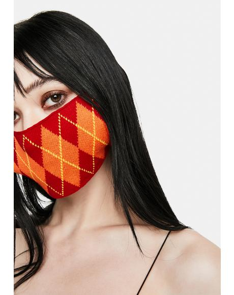 Sun Argyle Face Mask