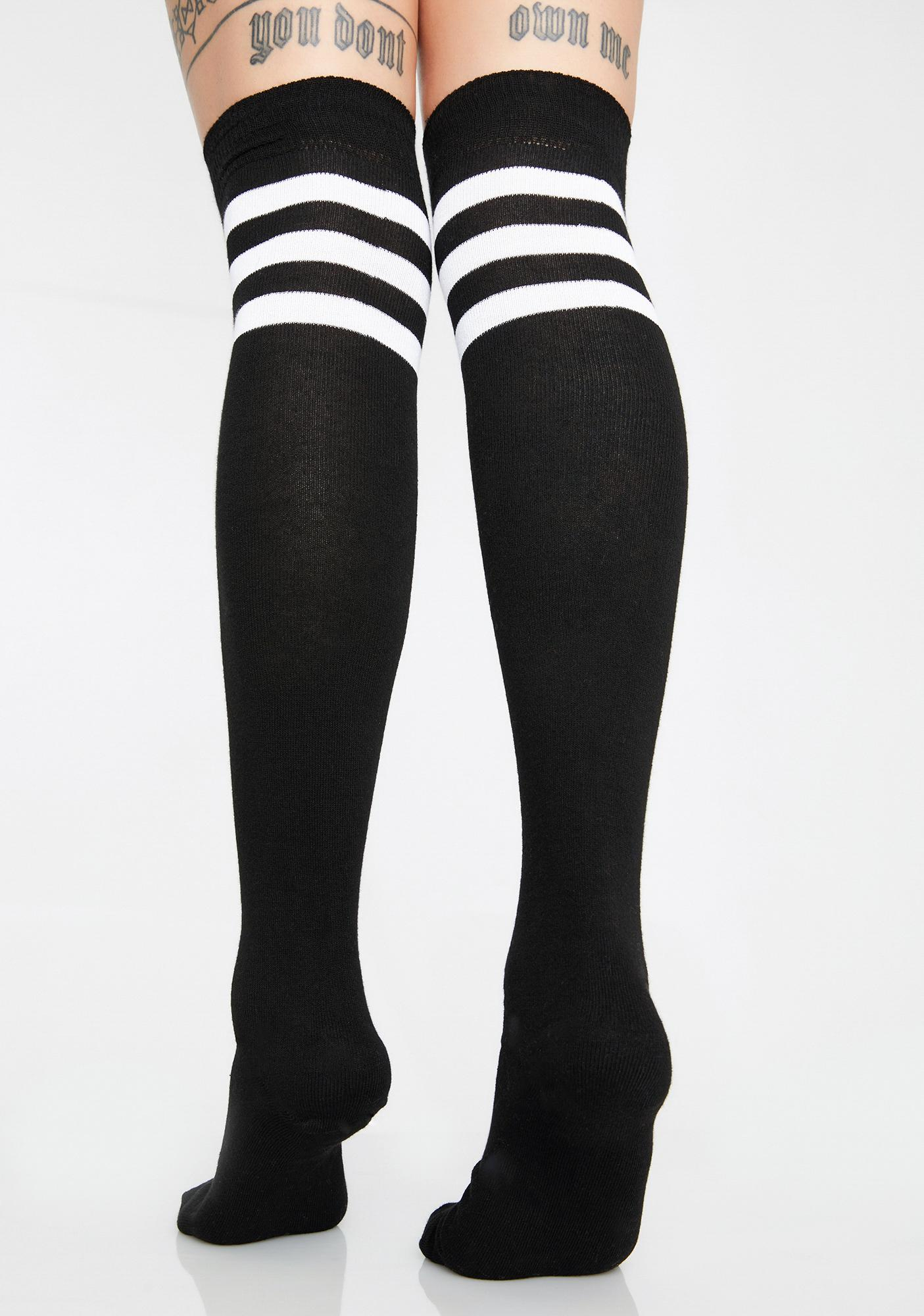 25dbd24cd ... Flag On The Play Thigh High Socks