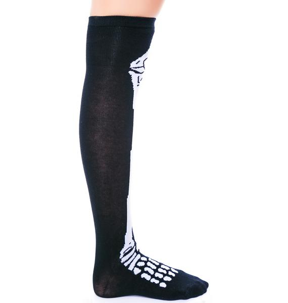 I Wanna Bone Knee Socks