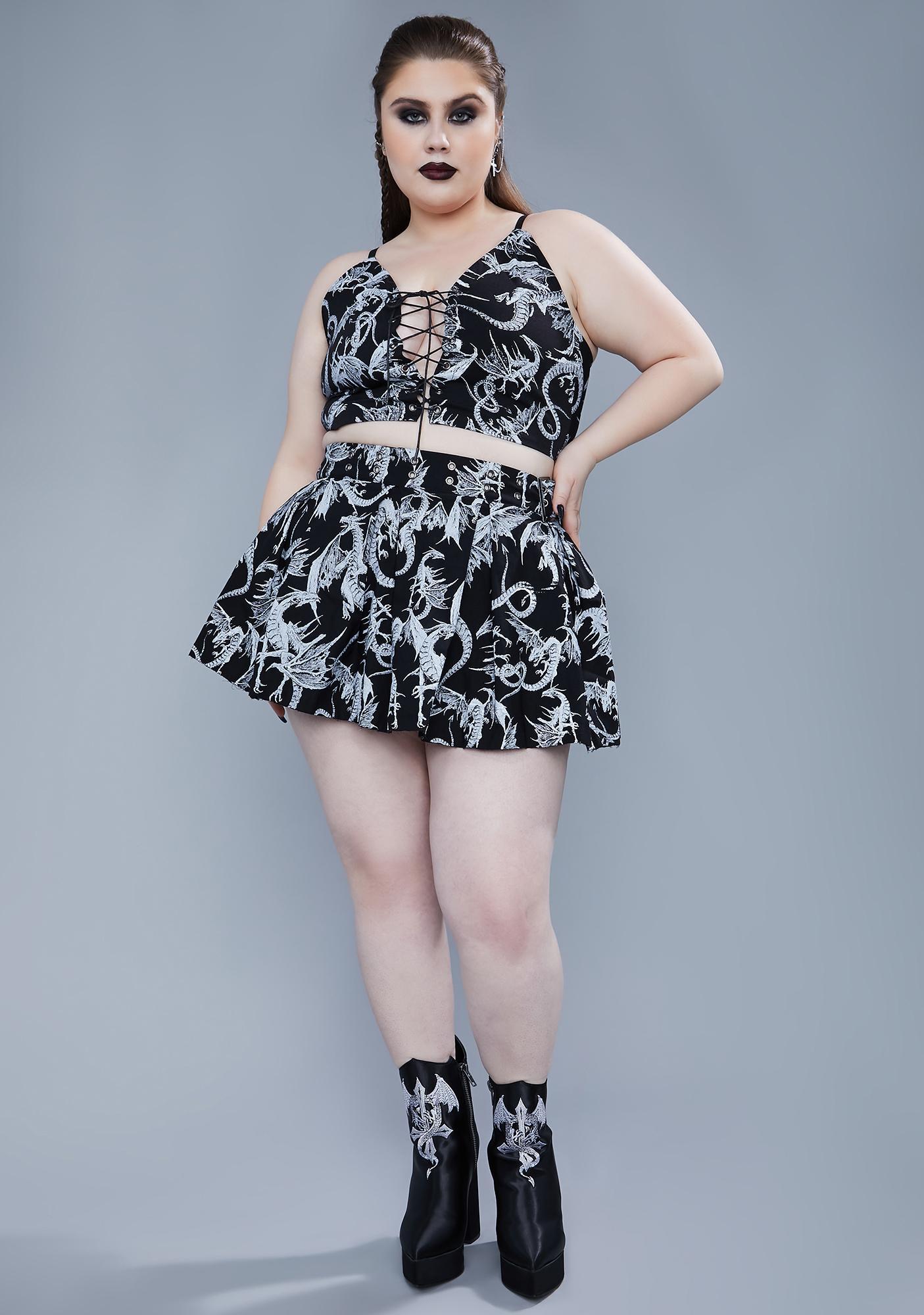 Widow There's A Certain Doom Skirt Set