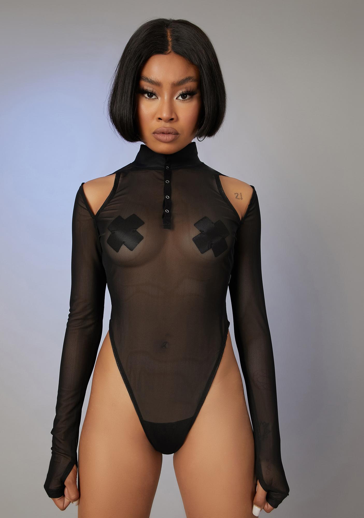 Poster Grl Paparazzi Pleaser Mesh Bodysuit
