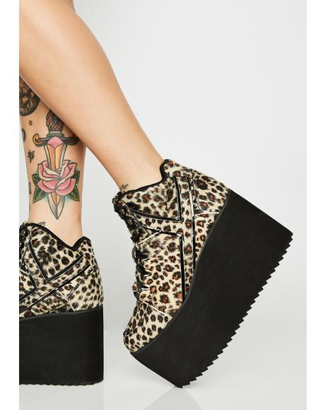 Qozmo Leopard Platform Sneakers
