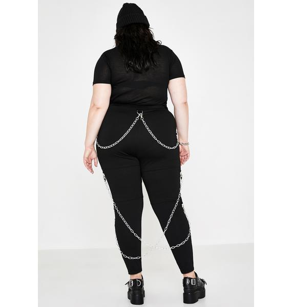 Current Mood Such Tragic Irony Chained Leggings