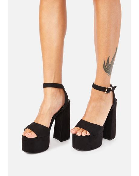 Black Ruduki Platform Heels