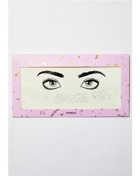 Silver Glitter Freckles