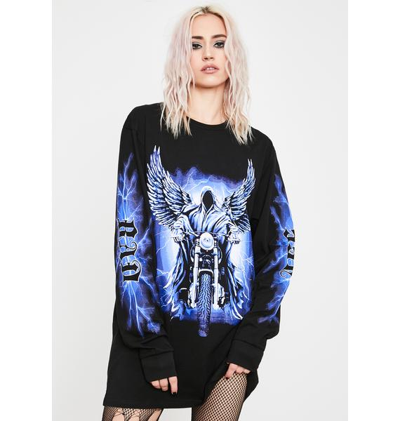 Current Mood Neon Angels Graphic Tee