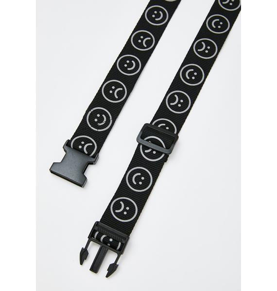 Lazy Oaf Reflective Happy Sad Belt