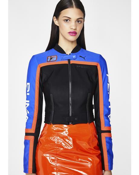 FENTY PUMA By Rihanna Scuba Panelled Biker Jacket