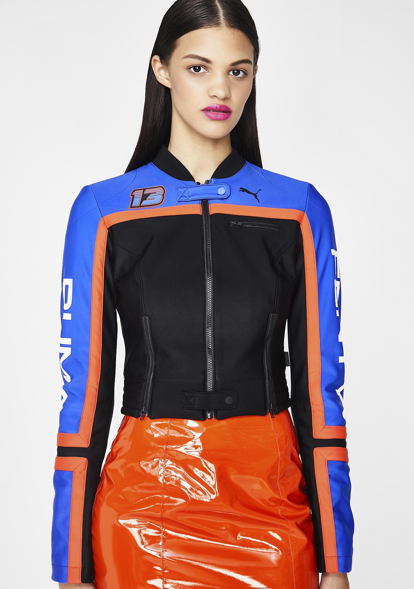 ff0d635c56aa PUMA FENTY PUMA By Rihanna Scuba Panelled Biker Jacket