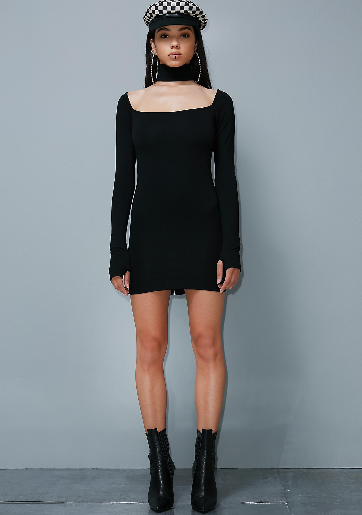 Poster Grl Can't Replace U Choker Dress